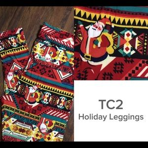 New buttery soft Lularoe TC2 Holiday Leggings